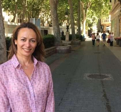 Entrevista a Carolina Domingo , presidenta de los comerciantes del Born