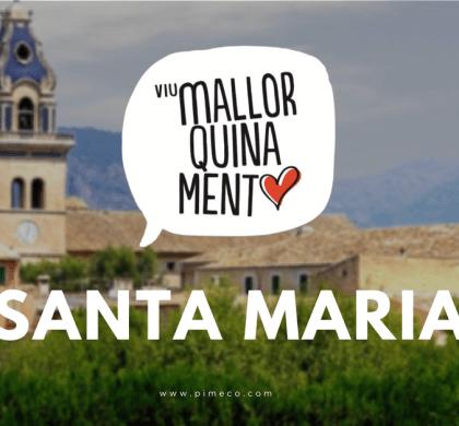 Los comerciantes de Santa Maria dan la bienvenida a #ViuMallorquinament