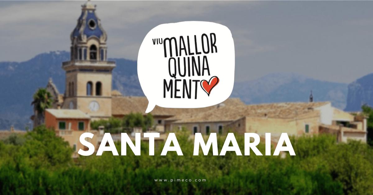 Els comerciants de Santa Maria donen la benvinguda a #ViuMallorquinament