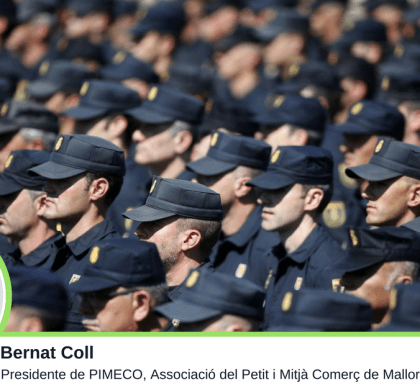 Comerciantes policías