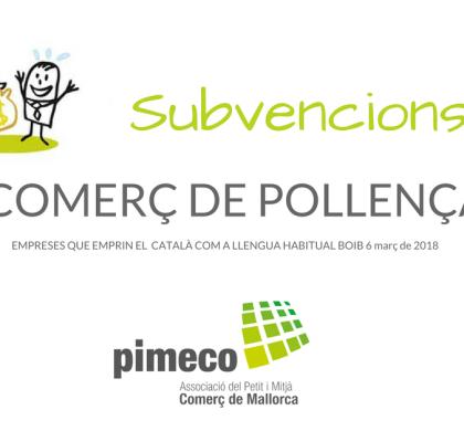 Subvencions a les empreses de Pollença que emprin el català com a llengua habitual