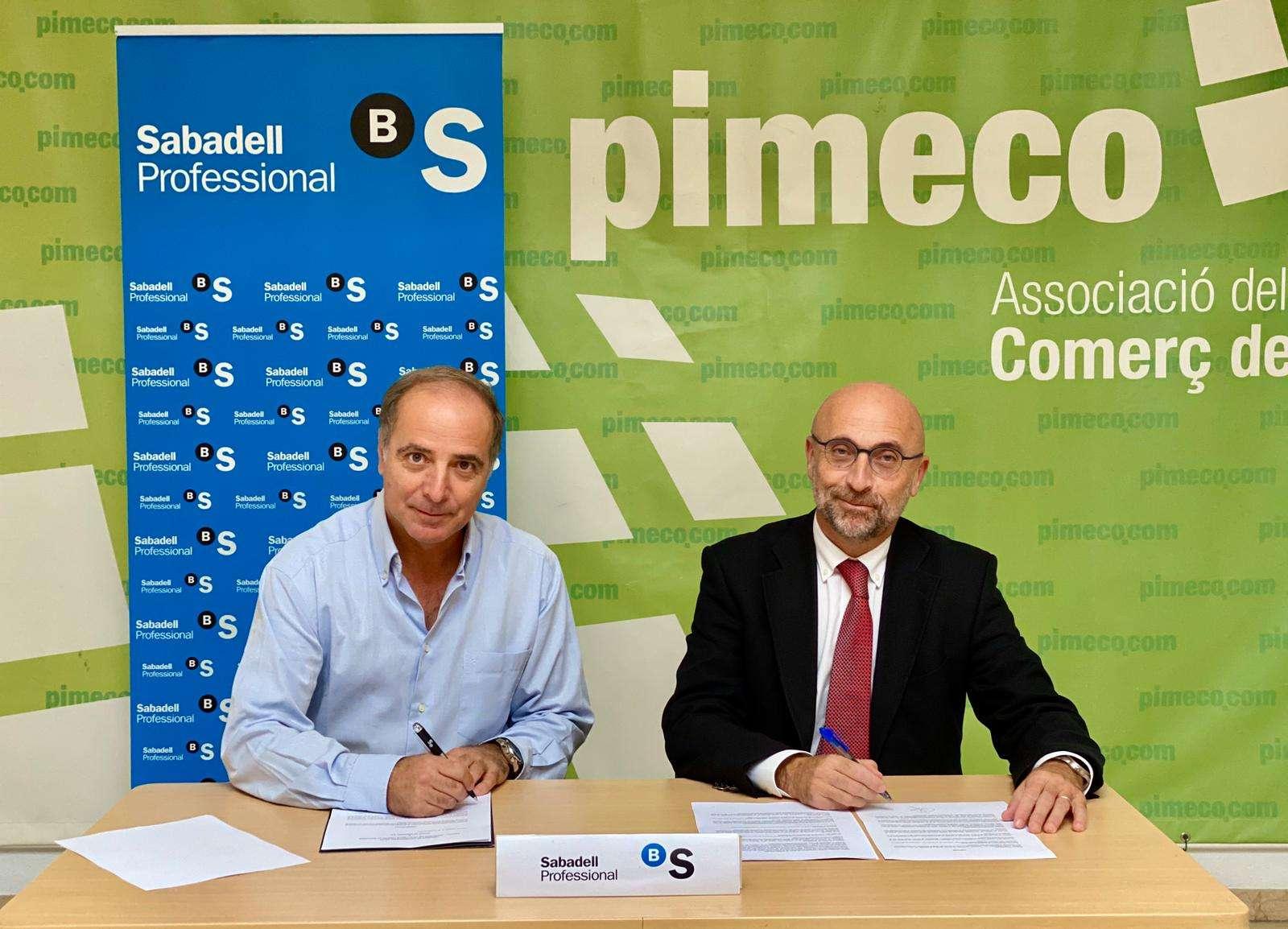 PIMECO FIRMA UN CONVENIO CON EL BANCO SABADELL