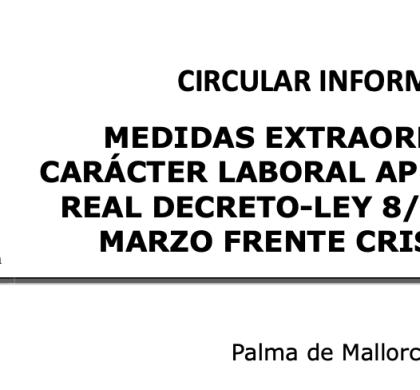 MEDIDAS EXTRAORDINARIAS DE CARÁCTER LABORAL