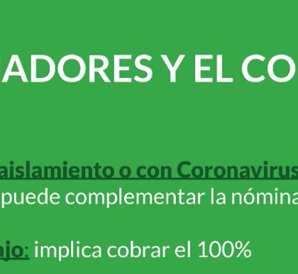 LOS TRABAJADORES Y EL CORONAVIRUS
