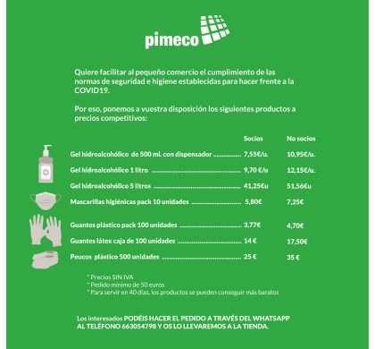 PIMECO LLEVA LOS PRODUCTOS DE SEGURIDAD E HIGIENE DIRECTAMENTE A TU TIENDA