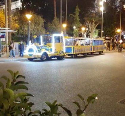 EL TRENET DE NADAL DE PIMECO JA CIRCULA PELS CARRERS DE PALMA