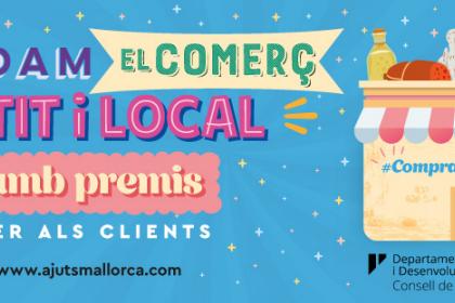 Si tienes un pequeño comercio, puedes participar en la campaña de fomento de las compras del Consell de Mallorca, con la que podrás obsequiar la clientela con un lote de productos de Mallorca